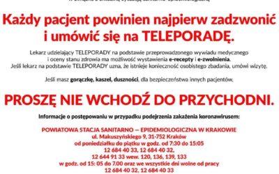 Pandemia koronawirusa: informacje organizacyjne
